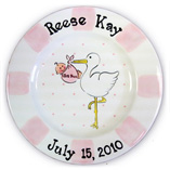 Birth Plate for Girl