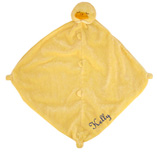 Angel Dear Yellow Duck Blankie with Monogram