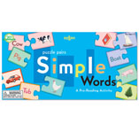 Simple Words Puzzle Pairs Game by Eeboo