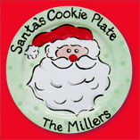 Santa Cookie Plate-Large