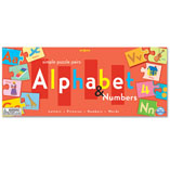 Alephabet and Number Puzzle Pair Game by Eeboo