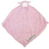 Angel Dear Pink Lamb Blankie with Monogram