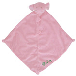 Angel Dear Pink Elephant Blankie with Monogram